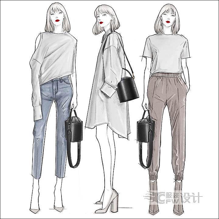 服装设计效果图作品-服装设计效果图款式图