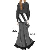 秋装―女―①―黑色夜晚