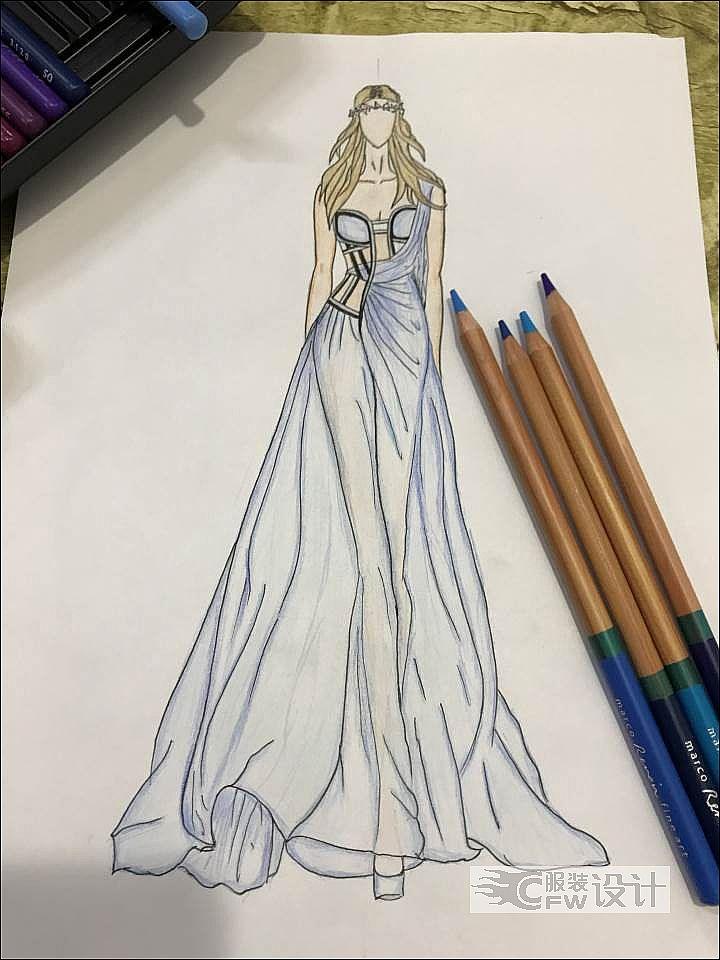 波西米亚风礼服作品-波西米亚风礼服款式图