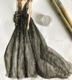 黑色欧根纱礼服