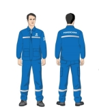 中国电建工作服款式-蓝色工人