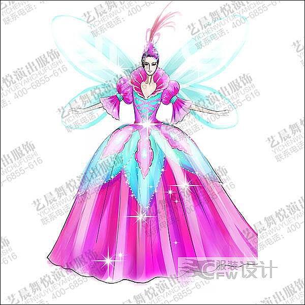 艺晨舞悦大型舞台演出服装设计与定制作品-艺晨舞悦大型舞台演出服装设计与定制款式图