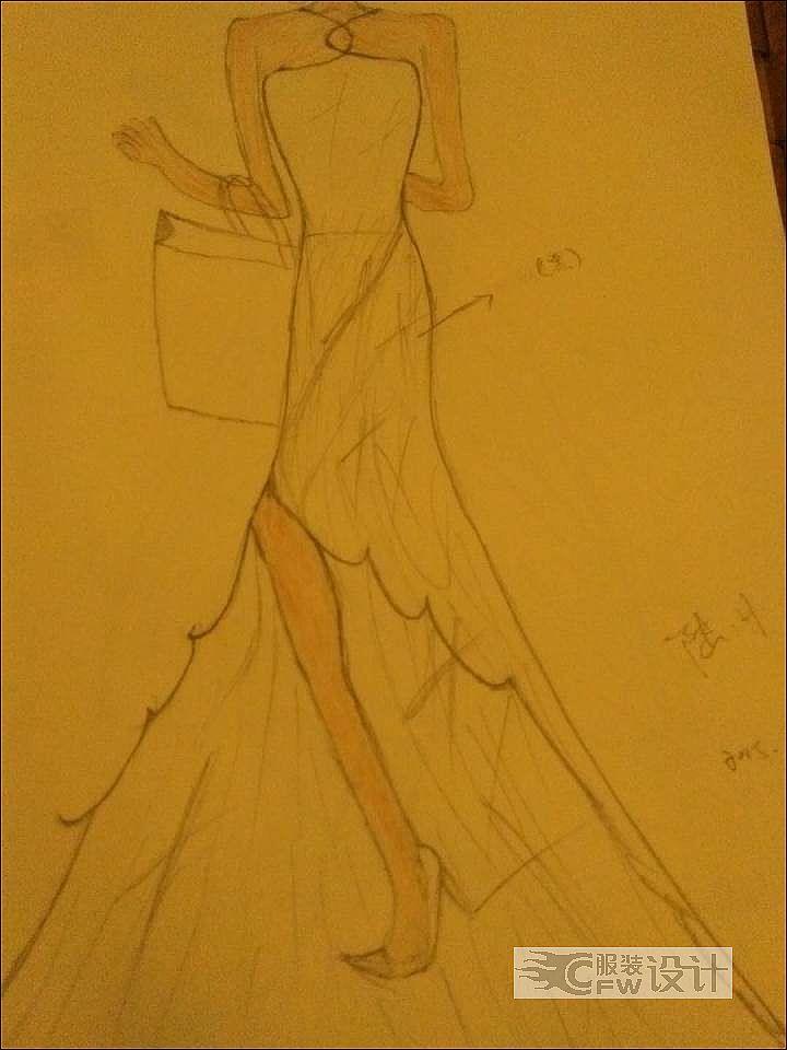 礼服作品-礼服款式图