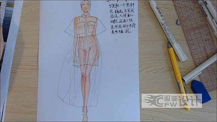 服装设计图丨手绘稿作品-服装设计图丨手绘稿款式图