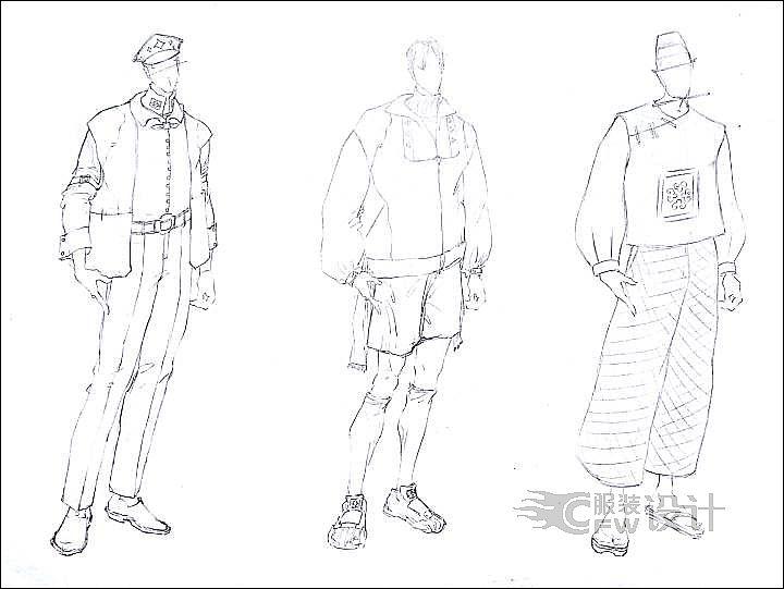 男装合集作品-男装合集款式图