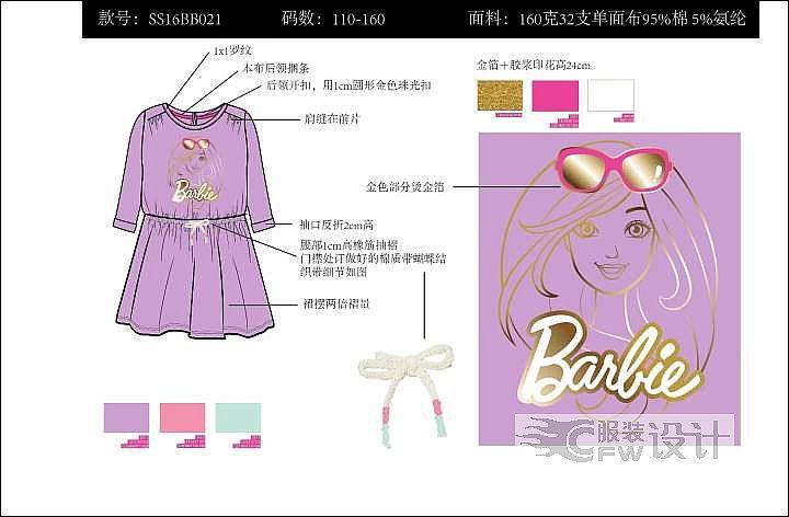 女童服作品-女童服款式图