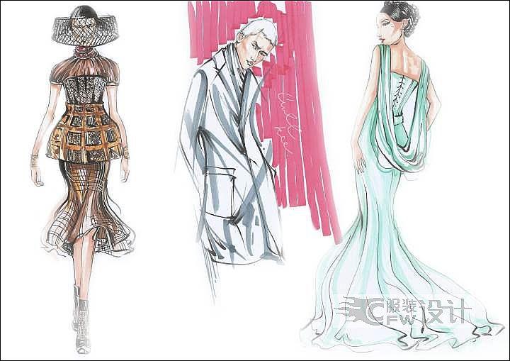 效果图及成衣作品作品-效果图及成衣作品款式图