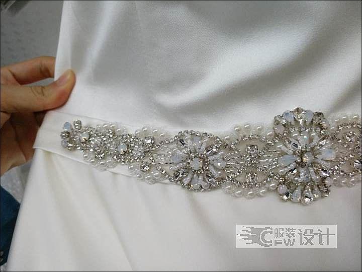 腰带-婚纱作品-腰带-婚纱款式图