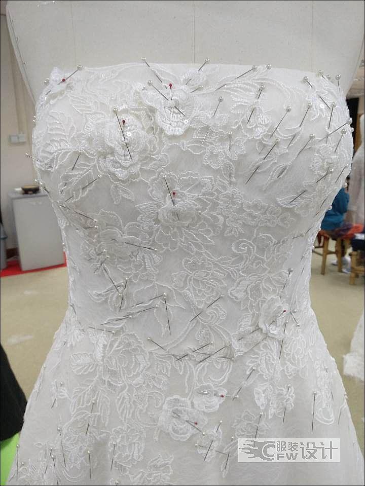 婚纱排花边作品-婚纱排花边款式图