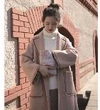 织带装饰边尼大衣