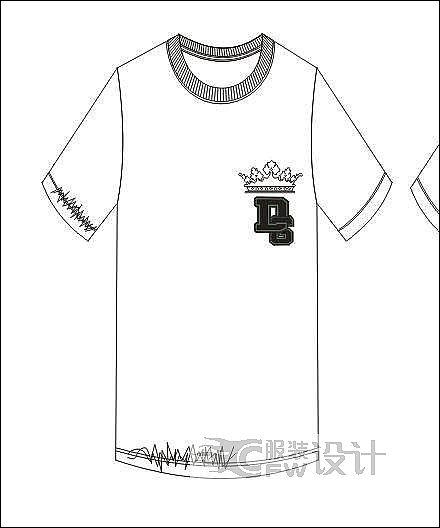 T恤作品-T恤款式图