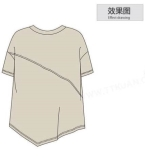 款款之原���O�:2019年春夏拼接落肩袖�A�IT恤