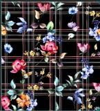 彩格子花卉