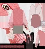 条纹粉色元素