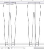 脚口条纹裤