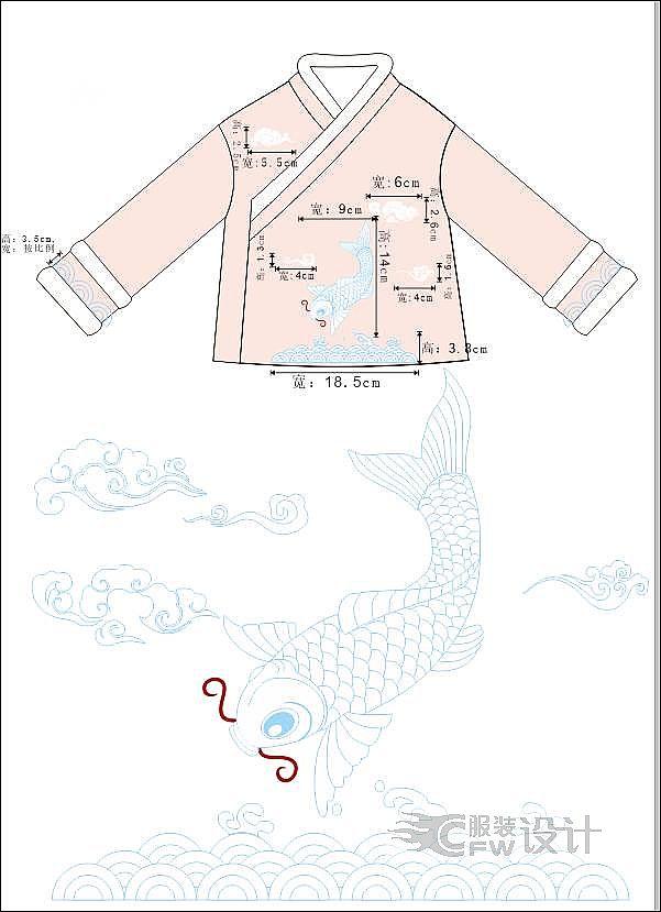 赢鱼汉服套装作品-赢鱼汉服套装款式图