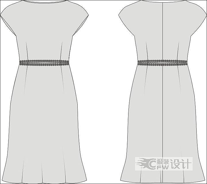 裙子作品-裙子款式图
