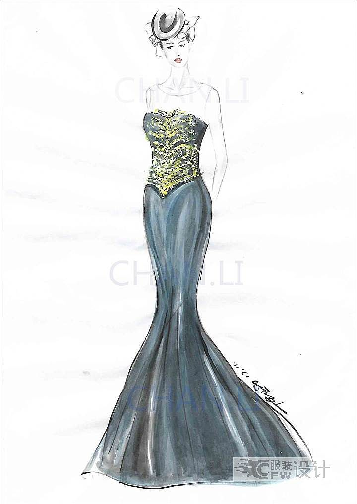 礼服定制作品-礼服定制款式图