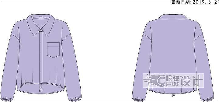宽松衬衫作品-宽松衬衫款式图