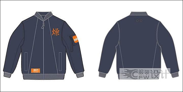 夹克1作品-夹克1款式图