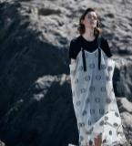 两件套波点个性连衣裙