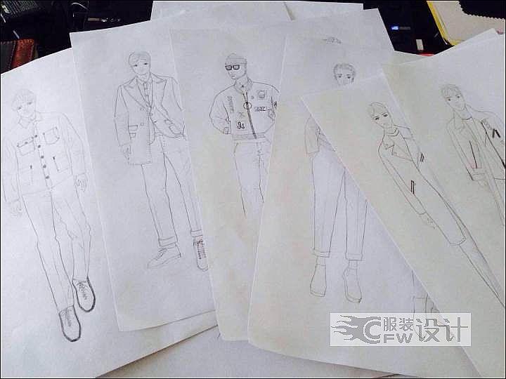 设计手稿和产品设计作品作品-设计手稿和产品设计作品款式图