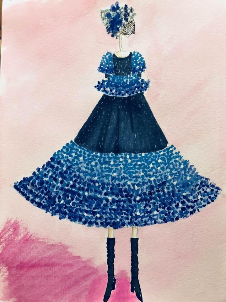 随心服装手绘图作品-随心服装手绘图款式图