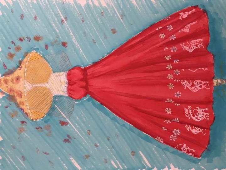 自由服装设计手绘图作品-自由服装设计手绘图款式图