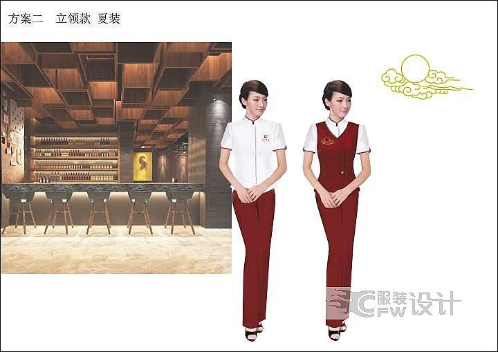 酒类制服设计稿作品-酒类制服设计稿款式图