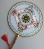 法式刺绣-团扇