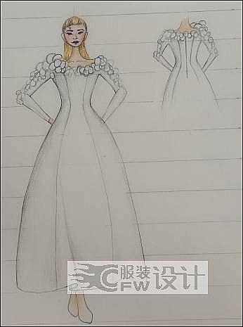 手稿-婚纱5作品-手稿-婚纱5款式图