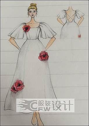 手稿-婚纱4作品-手稿-婚纱4款式图