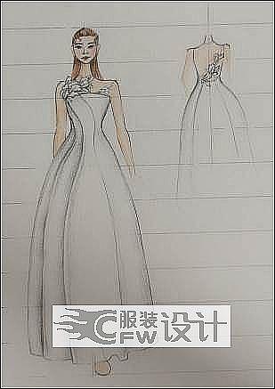 手稿-婚纱作品-手稿-婚纱款式图