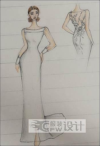 手稿-婚纱2作品-手稿-婚纱2款式图