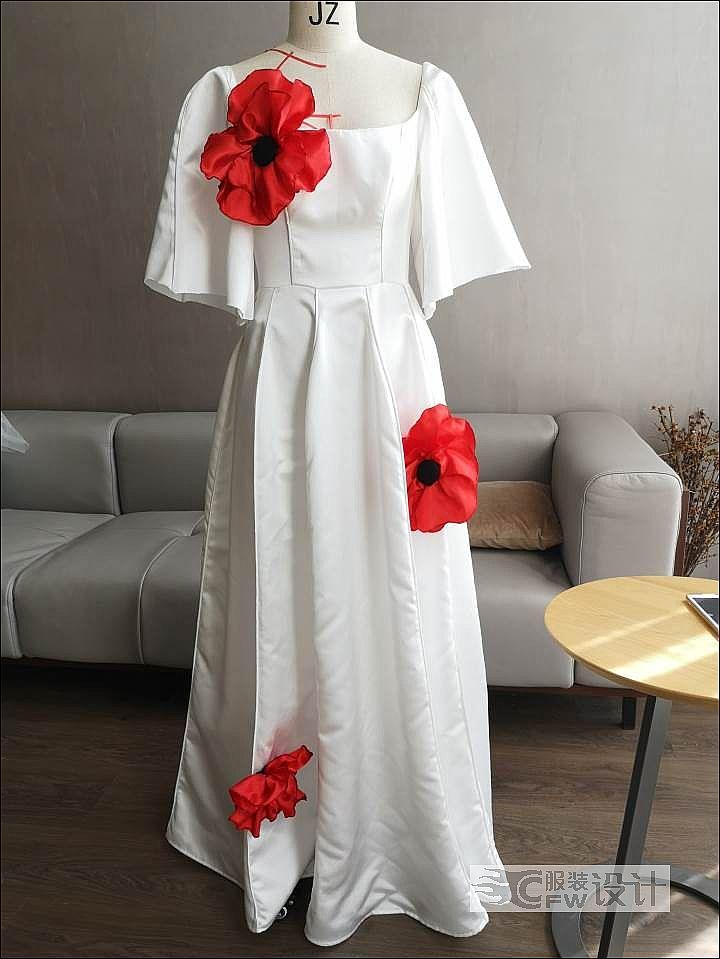 婚纱-立体花作品-婚纱-立体花款式图