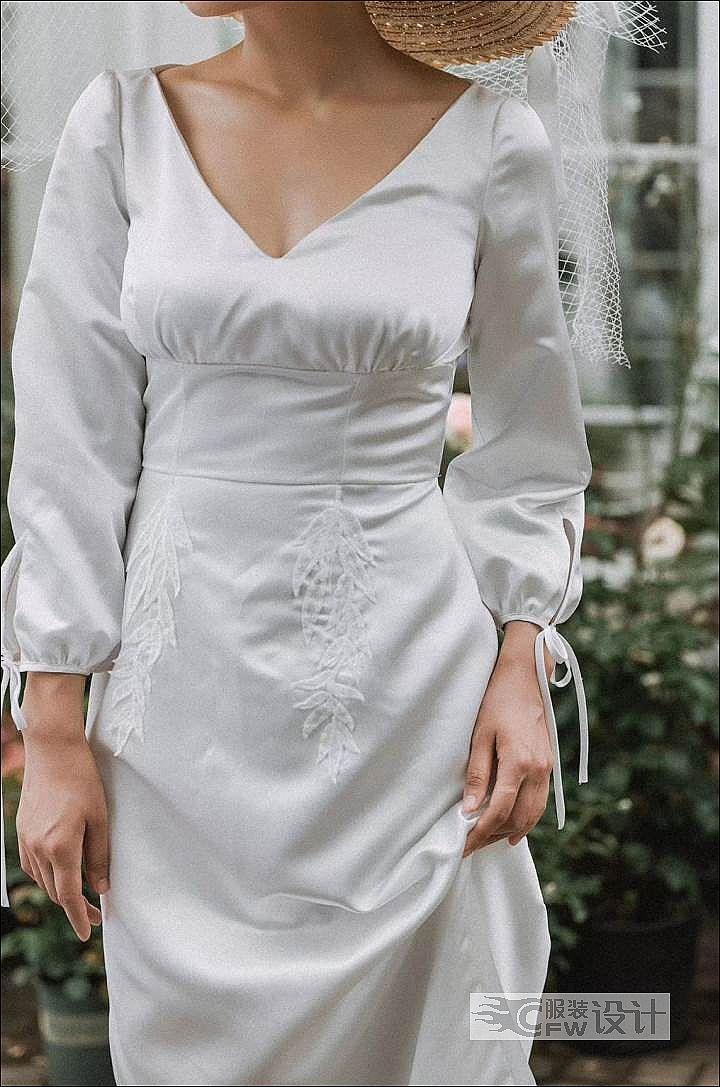 手缝针-礼服装饰1作品-手缝针-礼服装饰1款式图
