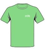 商场绿色T恤衫广告促销标语设计
