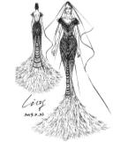 白纱晚礼服设计