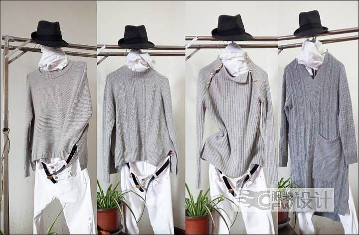 毛衫作品-毛衫款式图