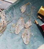 法式刺绣-翅膀耳环
