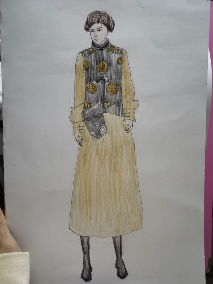 蒙古服饰作品-蒙古服饰款式图