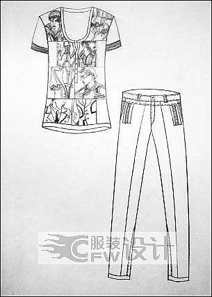 体恤衫作品-体恤衫款式图