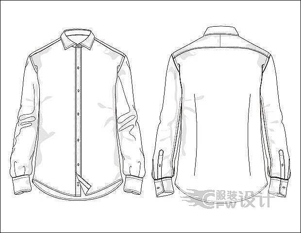 男士衬衫作品-男士衬衫款式图