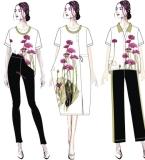 文艺、休闲女装设计稿