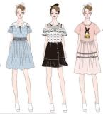 女装款式图和婴童装款式图