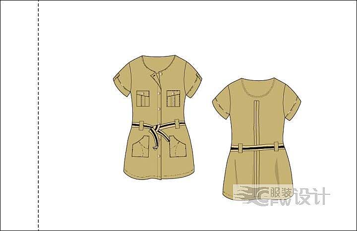 大童连体衣作品-大童连体衣款式图