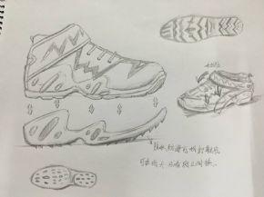 可拆卸外鞋底运动鞋