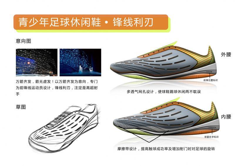 青少年足球休闲鞋设计作品-青少年足球休闲鞋设计款式图