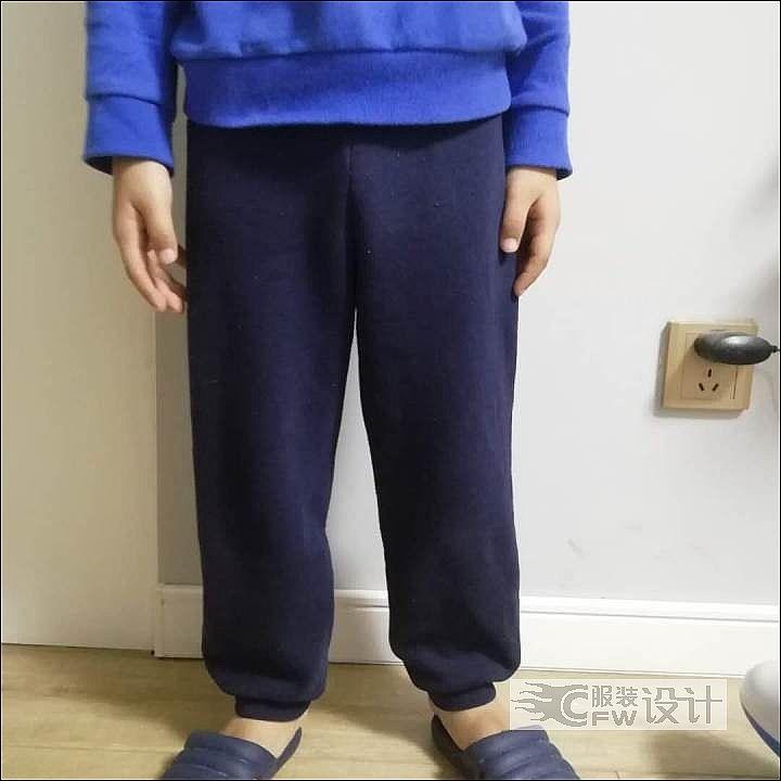 童装裤子作品-童装裤子款式图