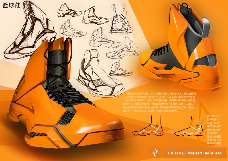 the flake concept sneakers作品-the flake concept sneakers款式图